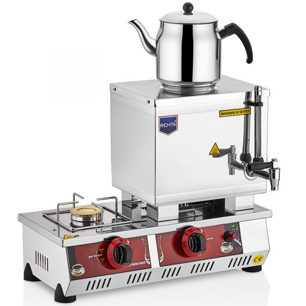 Remta 15 Model Tek Demlikli Gazlı CE lpg tüplü doğalgazlı Çay Kazanı kahveci ocağı 13 LT